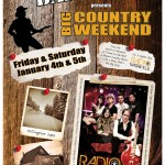 Friday & Saturday January 4th & 5th at the Wobbly Barn in Killington, Vermont – Big Country Weekend