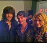 Radio Nashville's Paul Riario hanging with The Band Perry in NYC