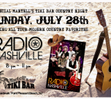 Special Martell's Tiki Bar Country Night with Radio Nashville on Sunday, July 28th (8pm-11:30pm)
