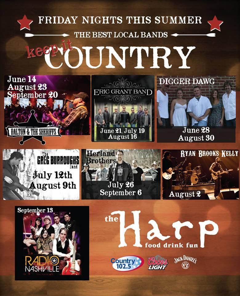 Boston Weekend with Radio Nashville – Friday 9/13 at The Harp & Saturday 9/14 Harvard Fallfest